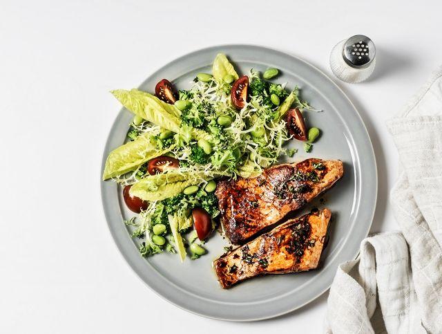 Zalm met salade