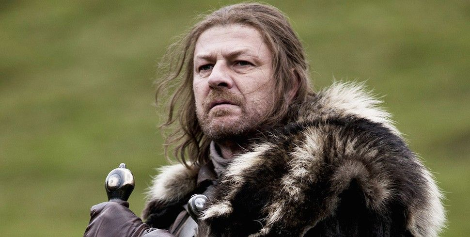 Sean Bean as Ned Stark on Game of Thrones