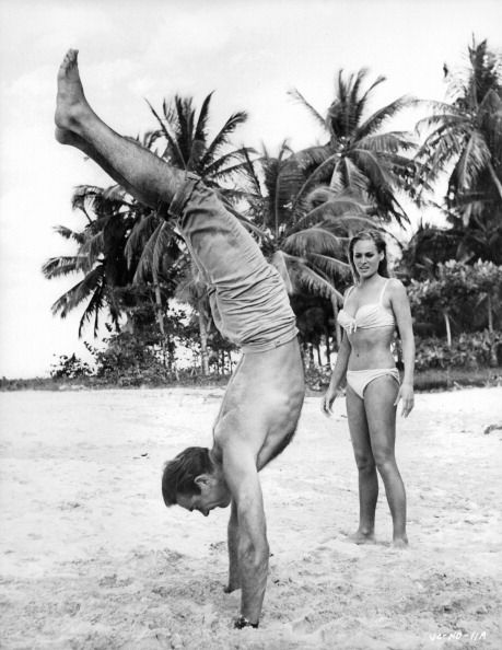 sean connery and ursula andress in 'james bond dr no'