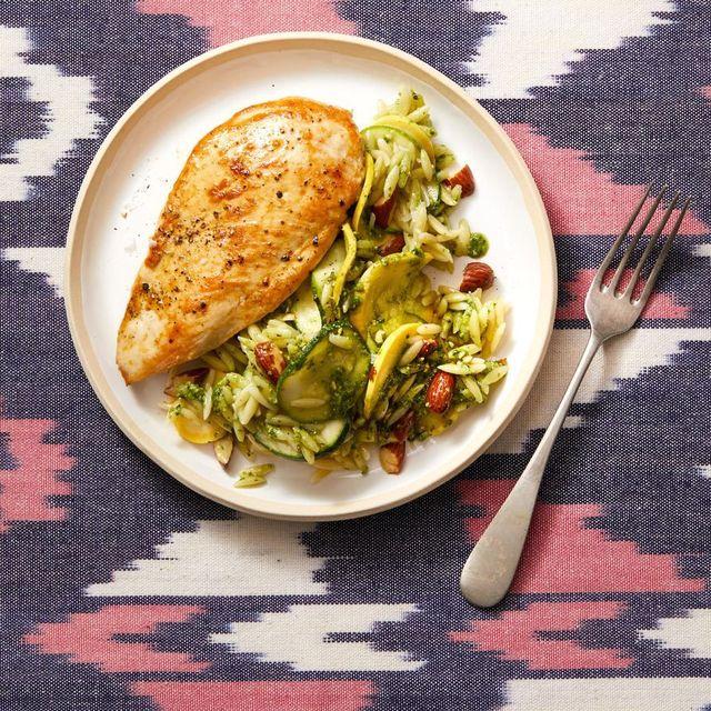 best zucchini recipes   healthy chicken and zucchini risotto