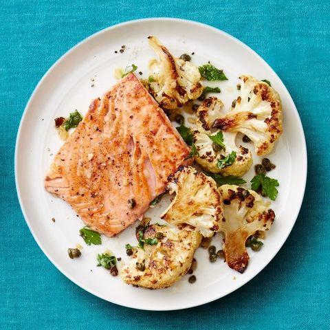 salmon cauliflower