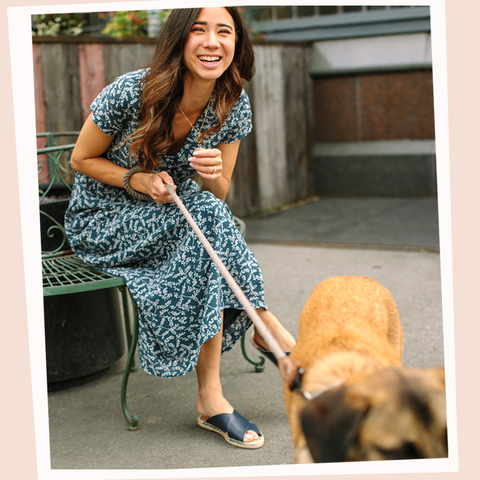 seasalt main pattern dress summer dog