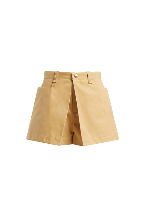 Clothing, Shorts, Khaki, Beige, Yellow, Bermuda shorts, Pocket, Denim, Trousers, Waist,