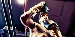 Seasoned Boxer Punching