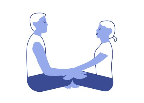 Couples yoga poses: seated centering