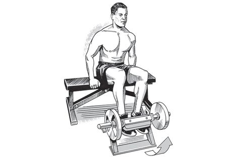 seated shin raise