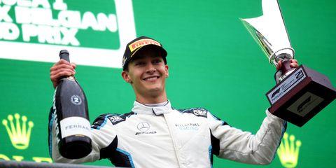 george russell termina segundo en el gran premio de bélgica de 2021