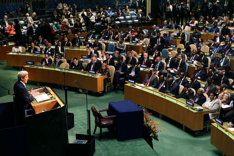 un secretary general, major signatories hold press conference on paris agreement