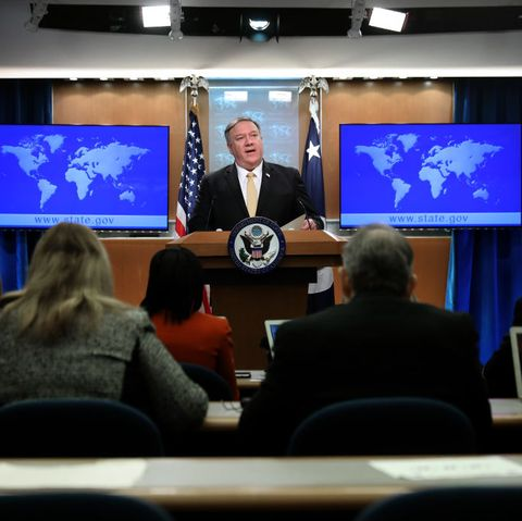Secretary Of State Mike Pompeo Holds Media Briefing At The State Department