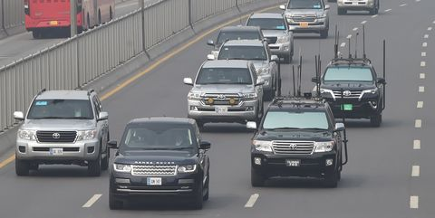 See the Toyota Land Cruiser Motorcade Prince William Gets on Visit to Pakistan