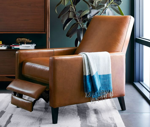 Furniture, Chair, Club chair, Room, Brown, Turquoise, Recliner, Interior design, Leather, Living room,