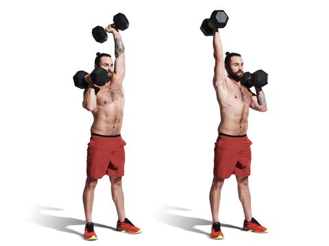 weights, exercise equipment, overhead press, shoulder, physical fitness, barbell, arm, standing, joint, sports equipment,