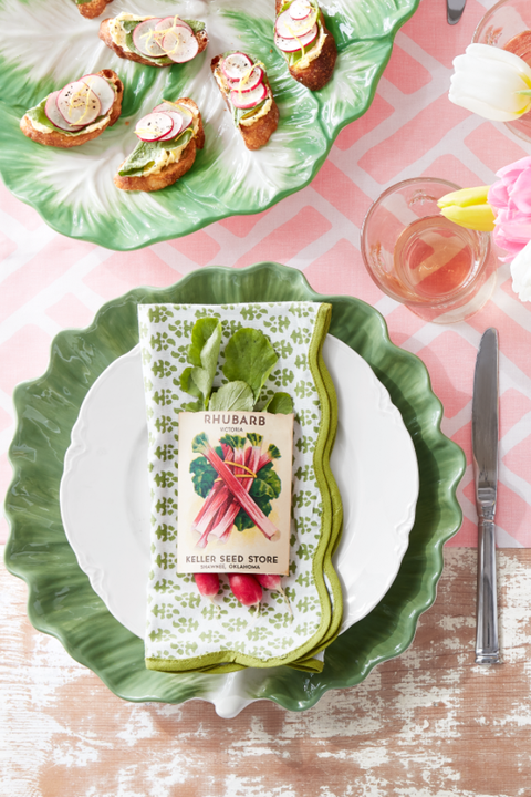 Seed Packet Place Setting easter table decor ideas