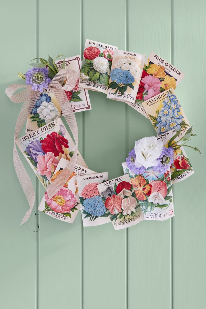 seed packet wreath mothers day craft