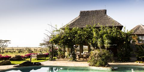 Resort, Swimming pool, Property, House, Building, Sky, Vacation, Water, Thatching, Tree,