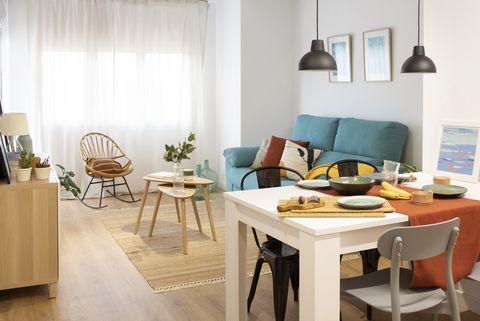 salón comedor de diseño nórdico