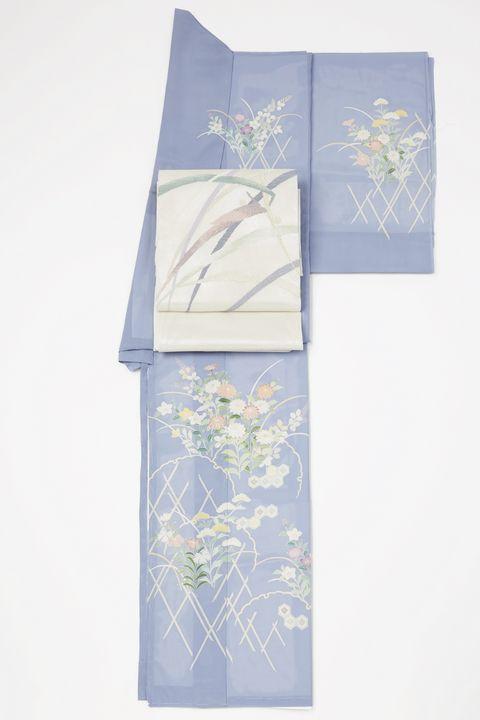 絽のきものに紗の袋帯