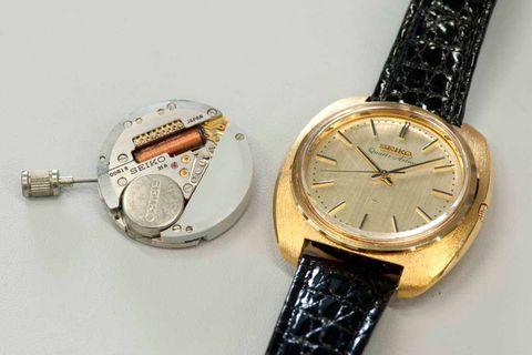 The original Seiko Astron quartz watch, launched in 1969