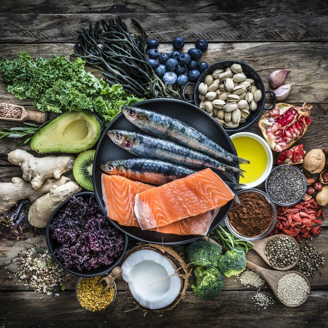 healthy eating selection of antioxidant group of food