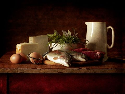 selection of cooking ingredients which are high in protein