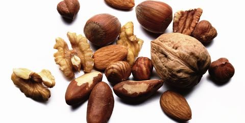 Selection of nuts, close-up