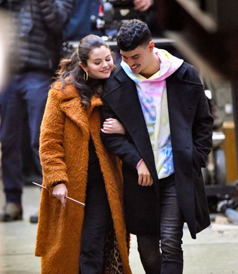 selena gomez and aaron dominguez shooting in nyc on february 24, 2021