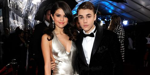Selena Gomez and Justin Bieber at the 2011 American Music Awards - Red Carpet