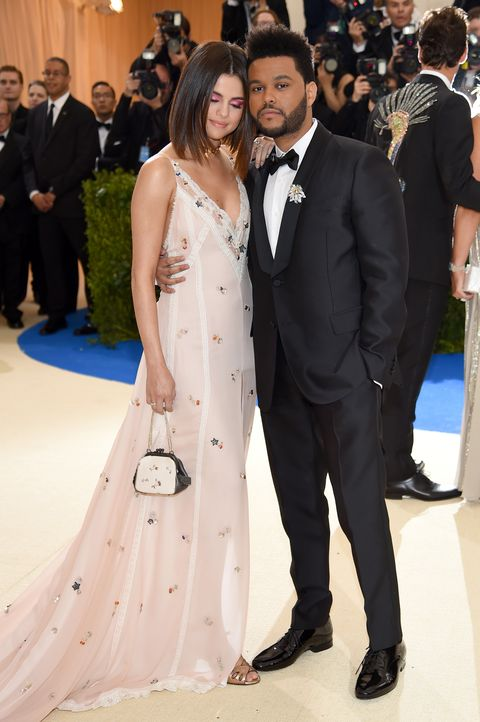 "The Weeknd and selena gomez ""rei kawakubocomme des garcons art of the in between"" costume institute gala   arrivals"