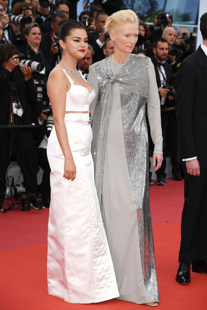 Selena Gomez and Tilda Swinton At the opening ceremony of the Cannes Film Festival and premiere of The Dead Don't Die .