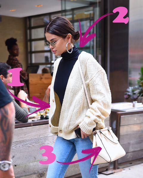 the latest aa496 cd045 Nelle mani di Selena Gomez, il cardigan donna in lana ...