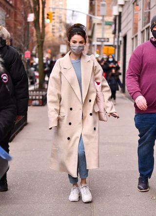 celebrity sightings in new york city   january 17, 2021