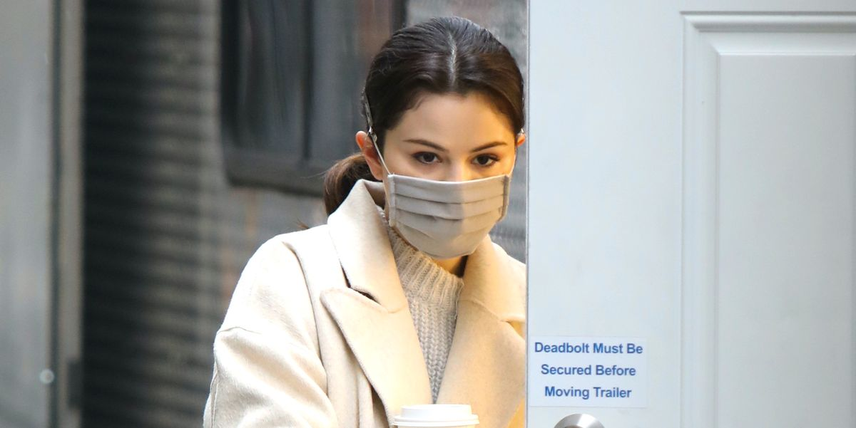 Selena Gomez Went Out in a Dreamy Cream Coat and Sweater for NYC Snow Day