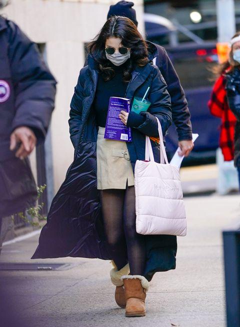 celebrity sightings in new york city   january 19, 2021
