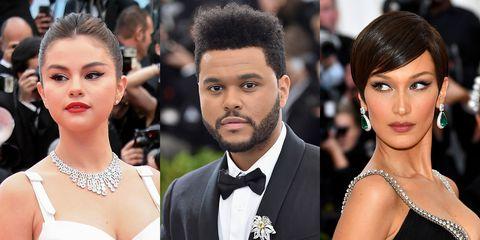 Selena Gomez, The Weeknd, and Bella Hadid