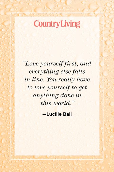 lucille ball quote about self care