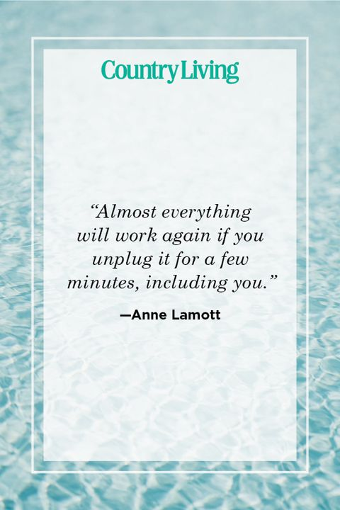 anne lamott quote about self care