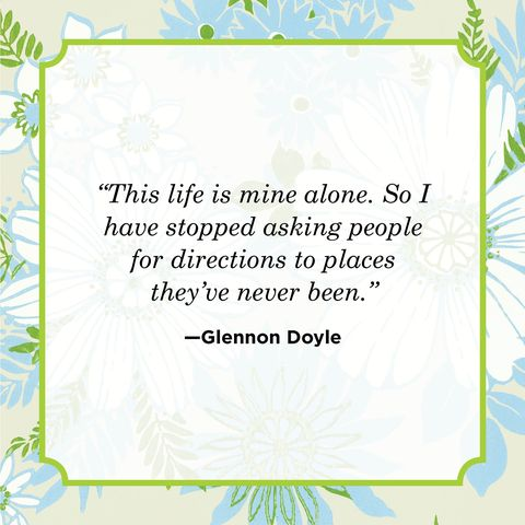 self love quote by glennon doyle