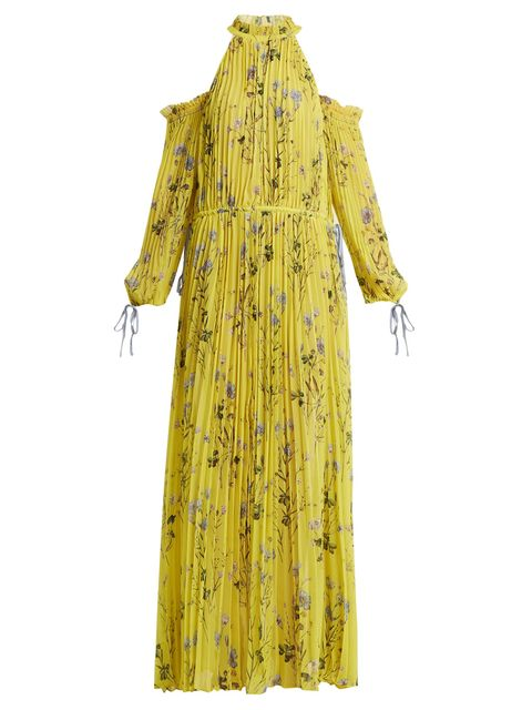 Clothing, Yellow, Outerwear, Robe, Costume design, Dress, Sleeve, Day dress, Costume, Abaya,