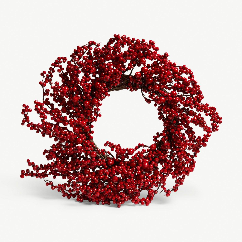 Best Christmas Wreaths 2018 - Selfridges berry wreath