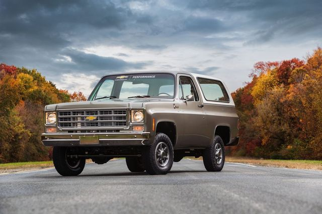 chevrolet will showcase a 1977 k5 blazer converted to all electric propulsion at sema360 the new k5 blazer e retains as much of the stock blazer as possible and approximately 90 percent of the new parts installed for the ecrate package are factory components from the chevrolet bolt ev