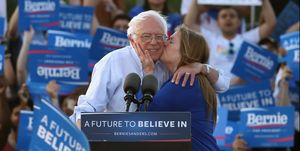 Bernie Sanders Holds Campaign Rally In Washington DC