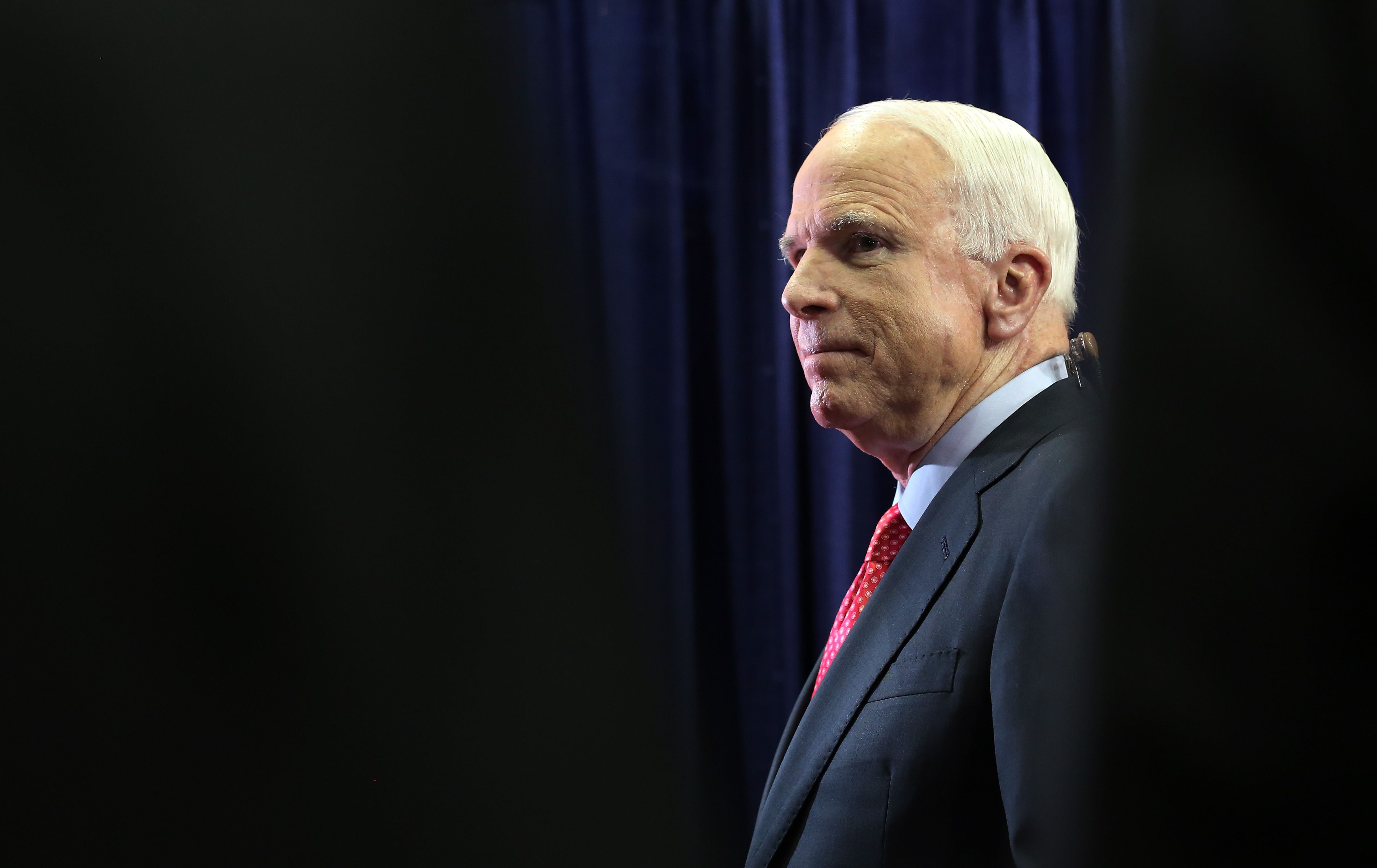 President Trump may not attend the late Senator McCains funeral