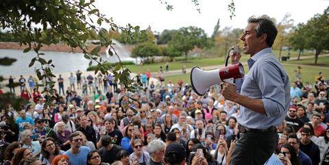 Beto O'Rourke Campaigns In Waco And Austin, Texas