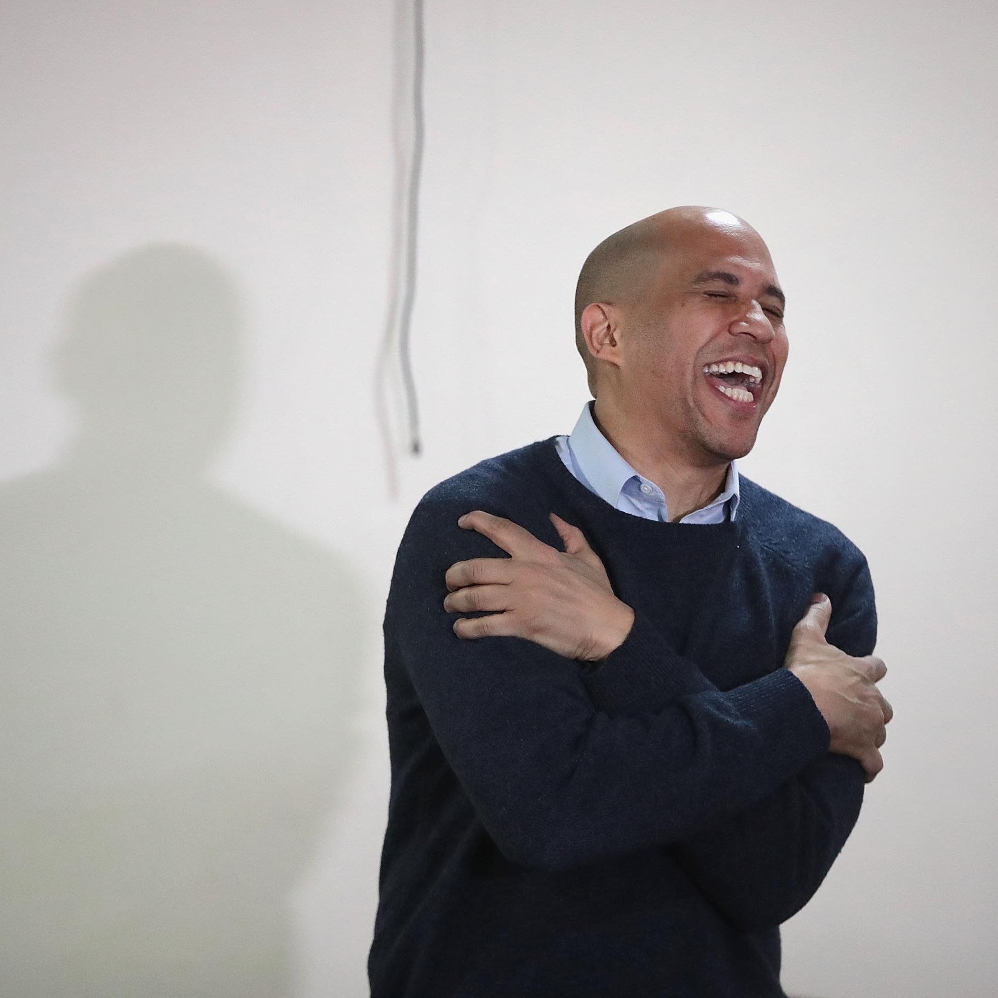 Cory Booker Proves He's President of Dad Jokes