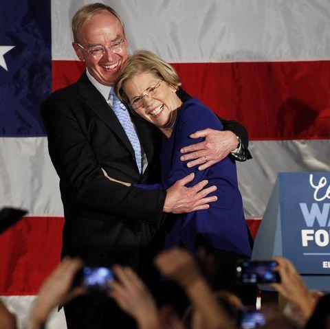 Elizabeth Warren with her husband bruce mann Wins Massachusetts Senate Race