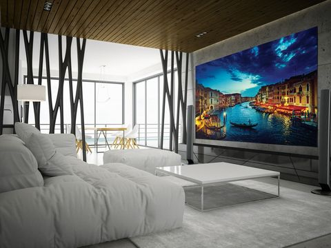 再也不想下床了啦!三星推出超巨大219吋4K電視,裝在房間牆上打開Netflix耍廢一整天!