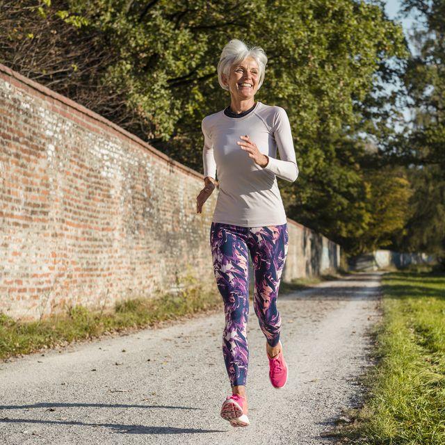 vrouw hardlopen