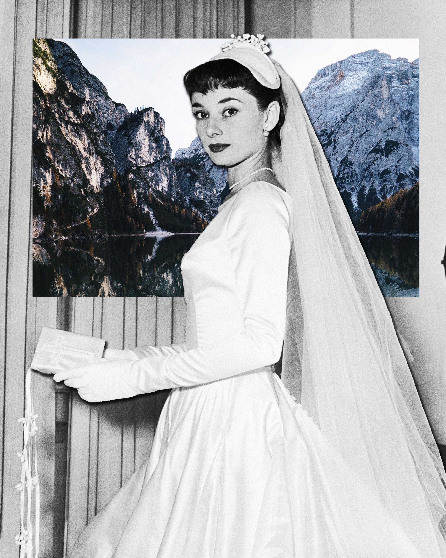 8fd9719e3135 Audrey Hepburn e quell abito da sposa vintage corto