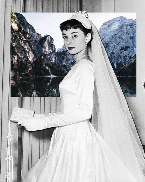 8250866db920 Audrey Hepburn e quell abito da sposa vintage corto