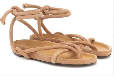 Footwear, Sandal, Tan, Beige, Shoe, Brown, Leather, Slingback, Flip-flops,